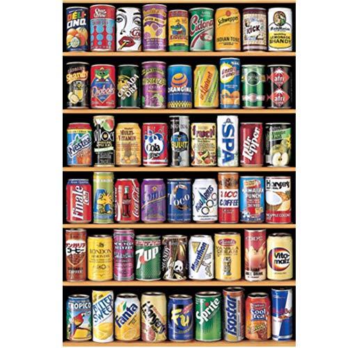 Rompecabezas de Madera de 1000 Piezas para niños Regalos para Adultos Rompecabezas - Lata de refresco