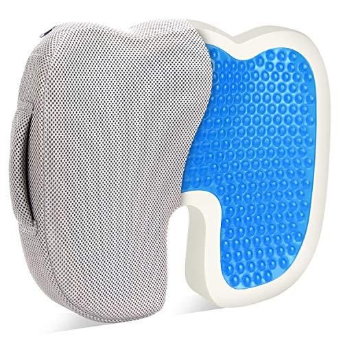椅子 クッション 腰痛 低反発 ゲルクッション, BESTKEE ヘルスケア座布団 ゲル 内蔵モデル 超通気性カバー洗える
