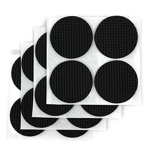 Non Slip 15 Inch Furniture Pads | Premium Furniture Grippers with Self Stick Adhesive | Protect Hardwood Floors amp Hard Surfaces 16 Pack Black