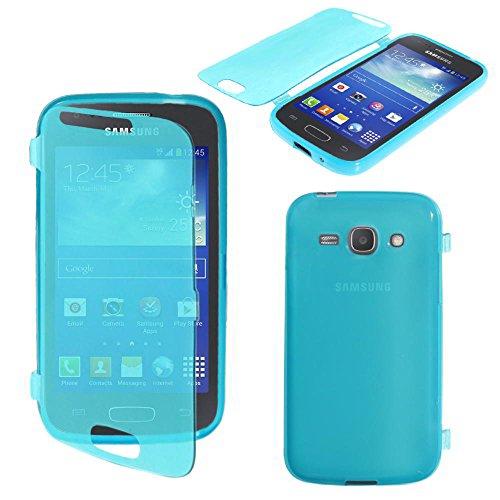 ebestStar - Cover Compatibile con Samsung Ace 3 Galaxy GT-S7270, S7272, S7275 Custodia Silicone Portafoglio Gel TPU, Protezione Anti Shock AntiGraffio, Blu [Apparecchio:121.2x62.7x9.8mm 4.0']