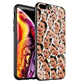DTYZL Phone Case iPhone 7 Plus/8 Plus,Tempered Glass Back Cover and TPU Soft Rubber Silicone Frame for Scratch and Fall Resistance DT-53 Kimoji Kim Kardashian North Kylie Jenner