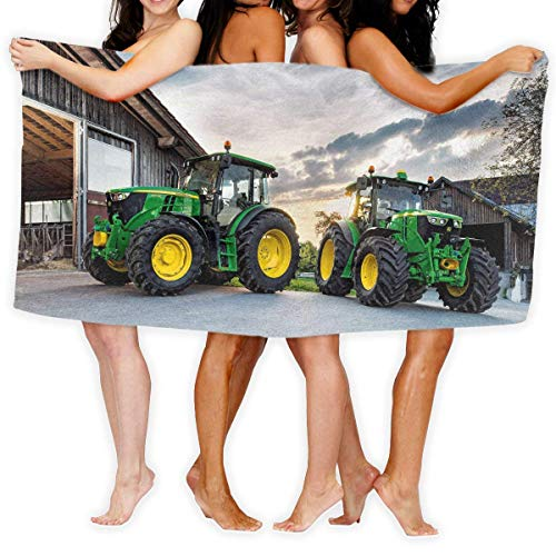 FSTGF PengMing Farm Traktor Premium 100% Polyester Großes Strandtuch, geeignet für Hotel, Schwimmbad, Fitnessstudio, Strand, natürlich, weich, schnell trocknend