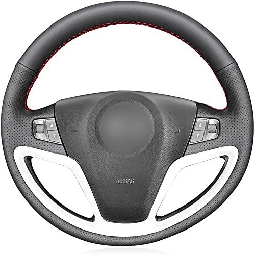 Funda para volante de coche, de piel negra, para Opel Antara Saturn...