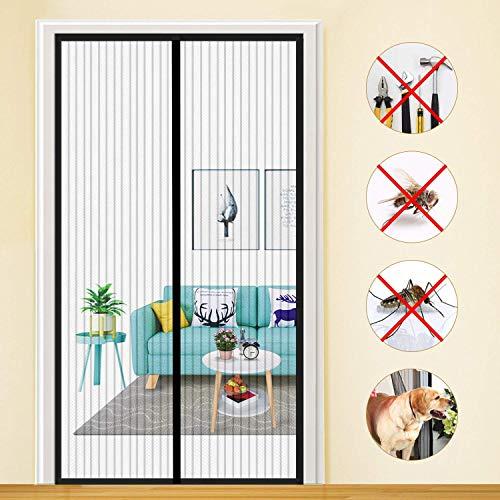 HXCD Magnetic Screen Door for Sliding Glass Door Mesh Screen Door Anti Mosquito Bugs Patio Door for Keep Bugs Fly out - Black 85x190cm(33x75inch)