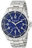 Akribos XXIV Men's AK689BU Essential Quartz Blue Dial Stainless Steel Bracelet Watch