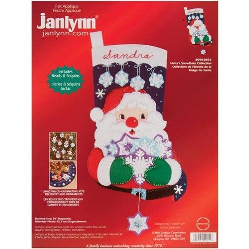 Janlynn Santa's Snowflake Collection Felt Christmas Stocking