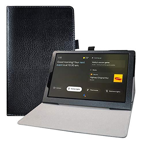LFDZ Funda Lenovo Yoga Smart,Soporte Cuero con Slim PU Funda Caso Case para 10.1' Lenovo Yoga Smart Tab YT-X705F Tablet,Negro