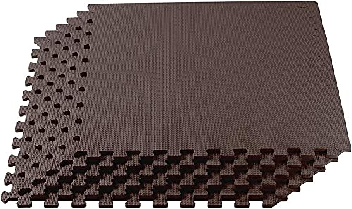 colchoneta de gimnasia suelo de goma encastrable Azulejos de juego de espuma | Estera de la junta del piso de enclavamiento con la instalación fácil de la estera de espuma EVA sólida | para la sala de