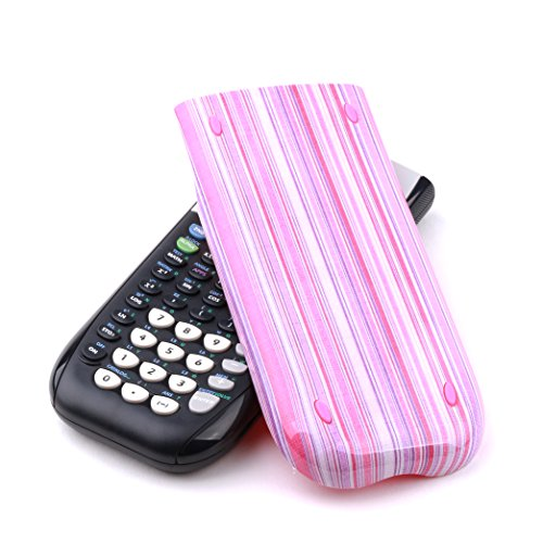 Guerrilla Hard Slide Case-Cover for TI-84 Plus, TI 84-Plus C Silver Edition, TI-89 Titanium Graphing Calculator, Pink Stripe