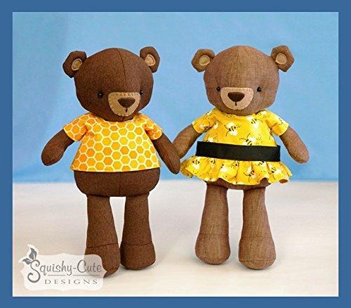 Teddy Bear Sewing Pattern - Stuffed Animal Bear Plushie Pattern & Tutorial