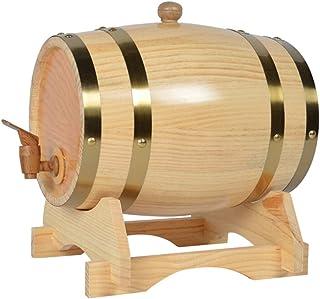 1.5L Baril de Chêne, Baril de Whiskey Distributeur D'eau Seau de Stockage en Chêne pour Stocker Le Vin Rhum Whisky (Color...