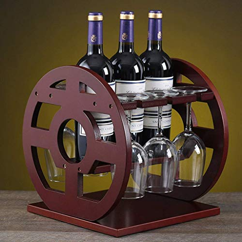 MILECN Weinregal Glasregal Massivholz Freistehende Flaschenhalter Schrank Lagerung Weinregal für Weinflaschen Stemware Gläser
