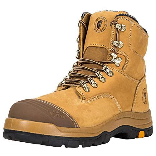N-B Cuero de vacuno Zapatos de Seguridad de Protección de los Zapatos de Trabajo de Puntera de Acero Zapatos de Seguridad Anti-rotura Y Anti-perforación de los Hombres