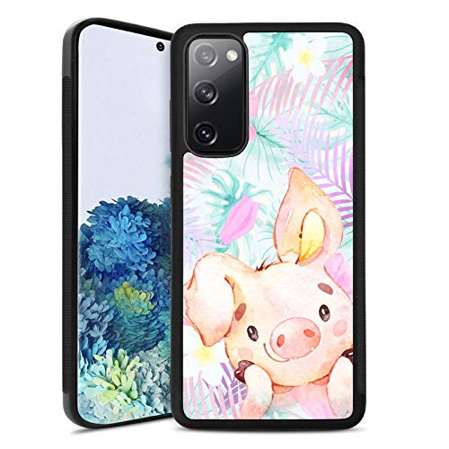 Women Case Samsung Galaxy S20 FE 5G Cases Black Cute Waterproof Cute Pig TPU Bumper Case Hard Tire Shockproof Protective Phone Cover Case for Samsung Galaxy S20 FE 5G
