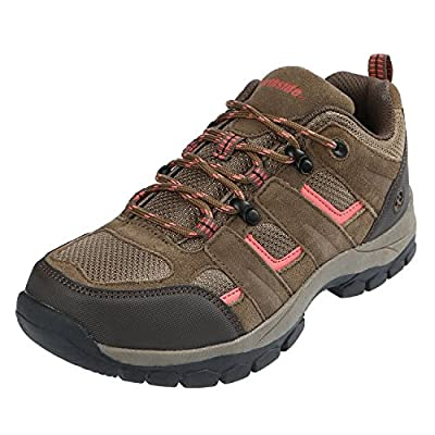 Northside Women's Monroe Low Hiking Shoe, tan/Coral, Size 10 M US