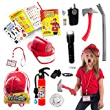 Born Toys Firefighter Toys & Fireman Toys Includes Firefighter Hat, Toy Fire Extinguisher, Toy Axe, 20 page Activity Book - Dress Up & Pretend Play for Kids Ages 3-7 (COAT NOT INCLUDED)