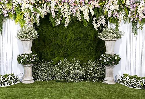 YongFoto 3x2m Vinilo Fondo de Fotografia Decoración de Flores para la Ceremonia...