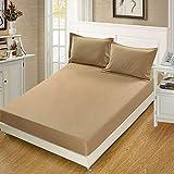 NTtie Unterbett Soft-Matratzen-Topper, Matratzenschutz Boxspring-Betten geeignet Einteiliger Matratzenschoner in einfarbiger Farbe
