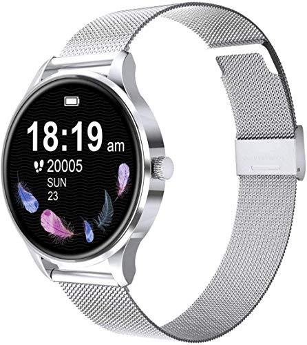Reloj inteligente compatible Ios hombres y mujeres natación impermeable reloj smartwatch fitness Tracker monitor de ritmo cardíaco digital-negro-plata