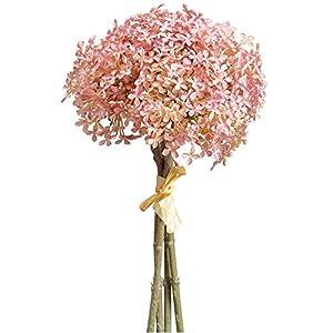 """Silk Flower Arrangements 12"""" Silk Snowball Flower Stem Bundle -Light Purple (Pack of 12)"""