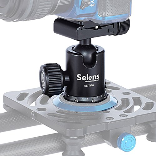 Selens Black 360 Degree Rotation Camera Tripod Ball Head with Quick Release Plate for DSLR Camera Camcorder