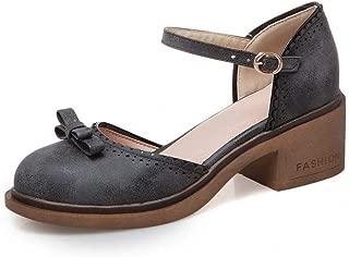 BalaMasa Womens ASL06578 Pu Block Heels