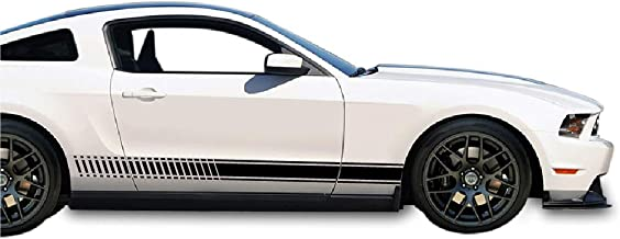 Bubbles Designs Universal Side Stripes Stickers Decals Graphic Compatible with Ford Mustang GT S-197 S-550 5th and 6th Gen Models