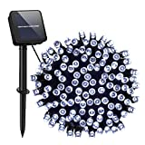 Solar String Lights Outdoor,Cshare 200 LED 8 Modes 72 FT Powered Fairy Lights Waterproof for Festival Garden Yard Pathway Christmas Tree Home Wedding Party Decorations(Cool White)