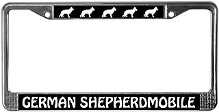 CafePress German Shepherdmobile Chrome License Plate Frame, License Tag Holder