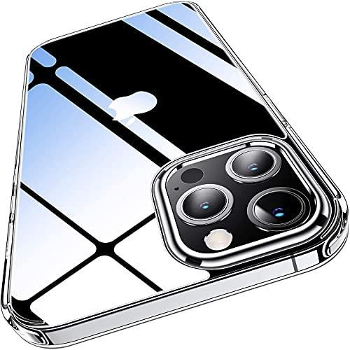 Funda transparente para iPhone 12 Pro Max Delgada y rígida transparente con parachoques de TPU suave 12 Pro Max cubierta de 6.7 pulgadas