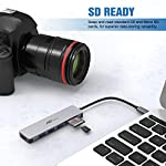 USB C Hub Multiport Adapter - 7 in 1 Portable Space Aluminum Dongle with 4K HDMI Output, 3 USB 3.0 Ports, SD/Micro SD… 14 Portable & Anti - overheat & plug and go - sleek compact with pocket size, 4. 5*1. 1*0. 4 in, Easy to set into your laptop sleeve, Bag or pocket. Premium space aluminum shell makes the USB C hub sturdy and durable, Also designed to prevent overheating, keeping you and Your devices secure. Plug and play, no software, drivers or complicated installation required. 7 in 1 design & massive expansion - 3 standard USB ports with 5Gbps transfer speed ensuring quick syncing and file sharing, 1 HDMI port with vivid 4K video output that transfers media in seconds with 3D effect, 2 SD card slots (one Micro SD) for superior data-storing versatility, and a USB - C power Delivery charging connector that makes the USB C adapter possible to connect any devices with USB - C ports —All possibilities in one hub. 4K HDMI Video Adapter for Stunning Pleasure - Extends your screen with the HDMI port and directly stream 4K UHD or Full HD 1080p video to HDTV, monitors, or projectors. FlePow USB C Hub brings you vivid 3D effect video sync. Perfect to stream a full HD movie on your HDTV; extend a 3D video game on your monitors or show your PPT through the projectors for office meetings.