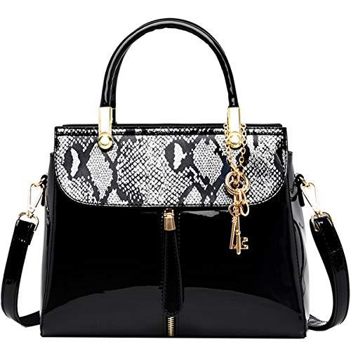 SDINAZ Donna Borse a mano Moda borse in vernice Tote Borse a tracolla Oro