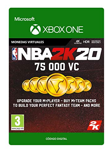 NBA 2K20: 75,000 VC | Xbox One - Código de descarga