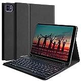 Hotlife - Carcasa con teclado para iPad Pro 11 2018, teclado AZERTY francés inalámbrico extraíble, compatible con la carga del bolígrafo y tableta iPad negro Negro