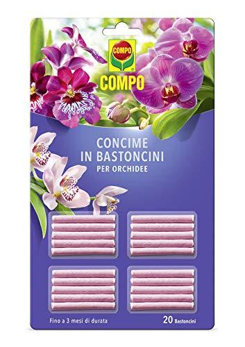 Compo Concime in Bastoncini per Orchidee, 20 Bastoncini, 18 g