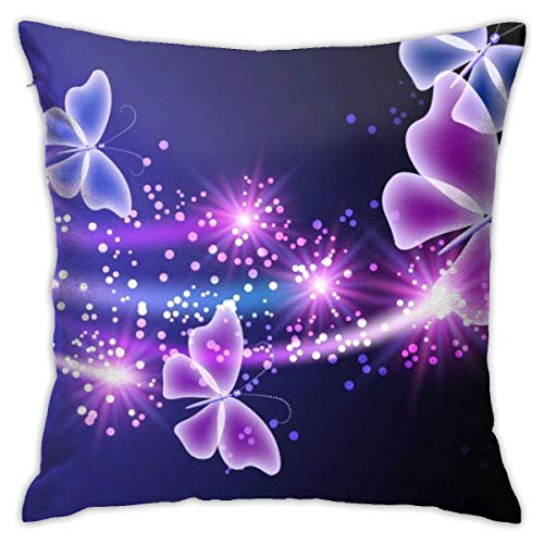 Throw Pillow Cover Cushion Cover Pillow Cases Decorative Linen Flying Butterfly for Home Bed Decor Pillowcase,45x45CM