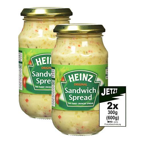 Heinz ORIGINAL Sandwich Spread Tangy Chrunchy 2x 300g (600g) - Pikanter Brotaufstrich