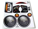 The Toy Restore Replacement Stickers Spare Decals Kit Fits Little Tikes Newer Custom Cozy Coupe Ride-on Car (has Eyes for Headlights) Headlights Design