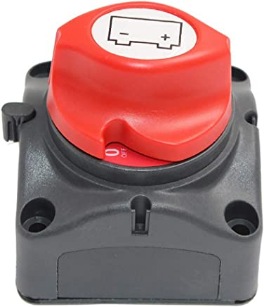 Homyl DC12V-24V Car Boat Battery Double Poles Disconnect Isolator Power Switch Battery Switches Batteries & Accessories