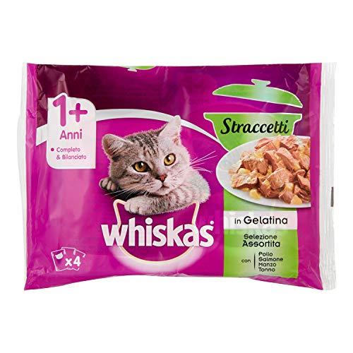 Whiskas Casserole Multipack Bolsitas de Comida Húmeda para Gatos Adultos Selección de Carne y Pescado (4 sobres x 85g) 🔥