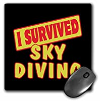 3drose I Survived Skydiving Survival Pride andユーモアデザインマウスパッド(MP 118240_ 1)