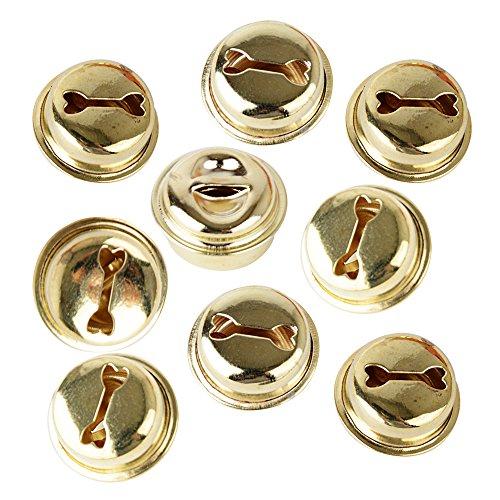 100pcs Cascabeles Dorados para Decoración de Navidad y Manualidades DIY 18mm