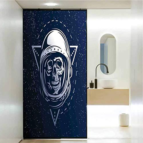 Pegatinas decorativas para ventana, espacio exterior, diseo de calavera muerta, para disfraz de cosmonauta AST, bao, oficina, sala de reuniones, sala de estar, ventana, 23.6 x 78.7 pulgadas