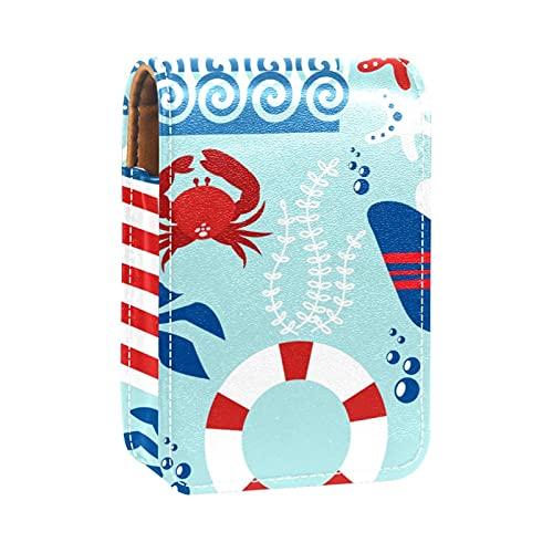 ColorMu Custodia per rossetto Mini borsa per il trucco per donna Ancoraggio di salotto della vita del faro per i viaggi, all'aperto