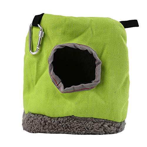 #N/A JIFeng - Hamaca de felpa para loros, resistente al viento, cálida y redonda para colgar mascotas pequeñas, cuco, algodón, Como se describe., Small