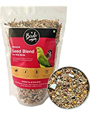 The Birds Company Premium Seed Blend of 9 Grains & Nuts, Fortified with Spirulina & Cuttlefish Bone, Bird Feeder Food Refill for Wild Birds, Indian Parrot, Sparrow, Pigeons, Doves, 450 g