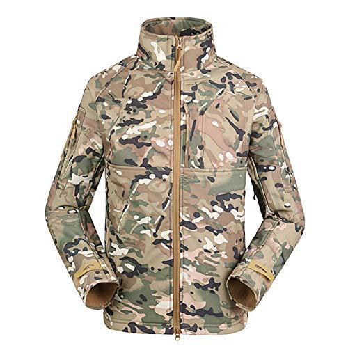 THWJSH Chaqueta militar para hombre, chaqueta con cremallera, forro polar al aire libre, deportes, camuflaje, ropa cálida, impermeable, para pesca/caza, 1-M