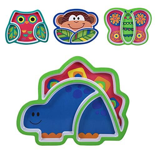 DAUERHAFT Bandeja de Comida para niños, Resina de melamina de Calidad, Forma un Buen hábito alimenticio, vajilla de alimentación para bebés y niños(Butterfly)