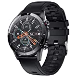 [Updated] feifuns Smart Watch for Android iOS Phone(Music/Storage Playback Receive/Make Call) Health Fitness Tracker with Heart Rate Blood Pressure Sleep Track IP67 Waterproof SmartWatch for Men Black