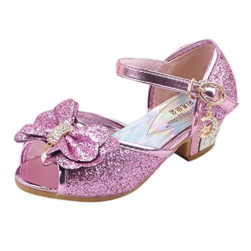 Zapatos niña, LANSKIRT Zapato de Princesa de Lentejuelas Calzado de Cristal Perla para Niña niño Patucos Bebe Primeros Pasos con Estilo Pantuflas Bebe niña Verano Sandalias Zapatillas